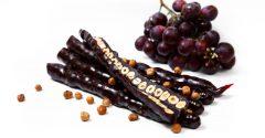 Чурчхела из темного винограда с фундуком.