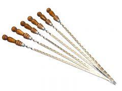 Шампур с деревянной ручкой (50*12)